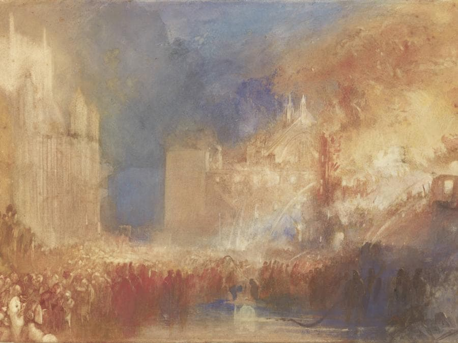 JMW Turner - The Burning of the Houses of Parliament c.1834-5 Tate