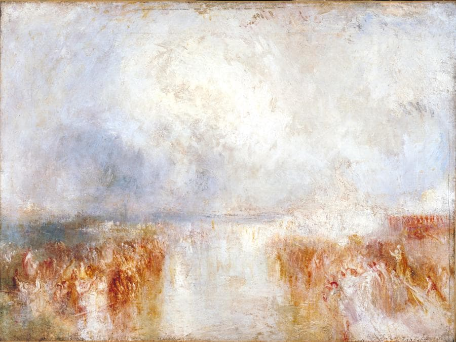 JMW Turner - The Disembarkation of Louis-Philippe at the Royal Clarence Yard, Gosport, 8 October 1844 c.1844–5, Tate