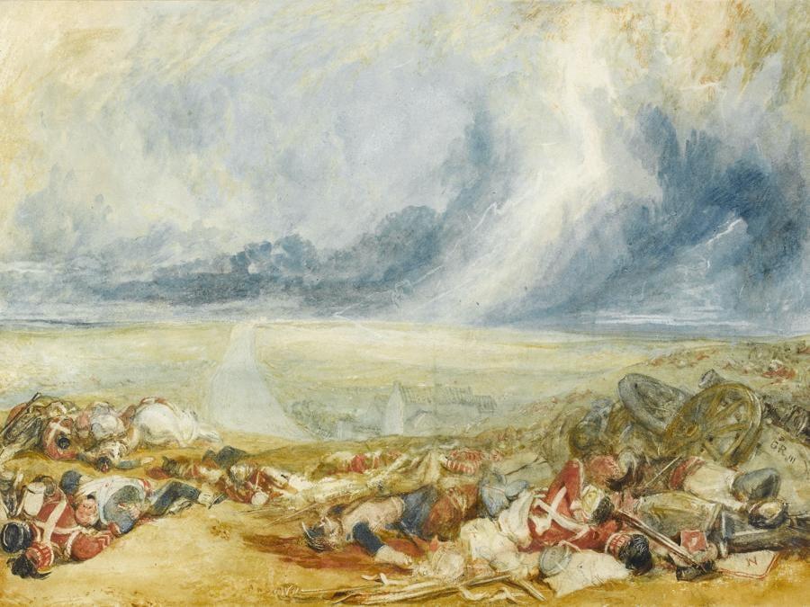 JMW Turner - The Field of Waterloo