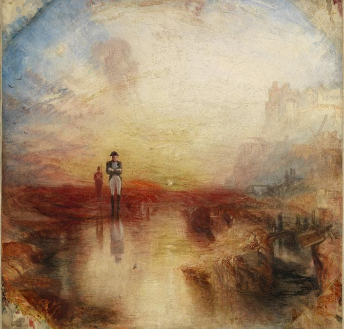 JMW Turner - War. The Exile and the Rock Limpet exhibited 1842, Tate