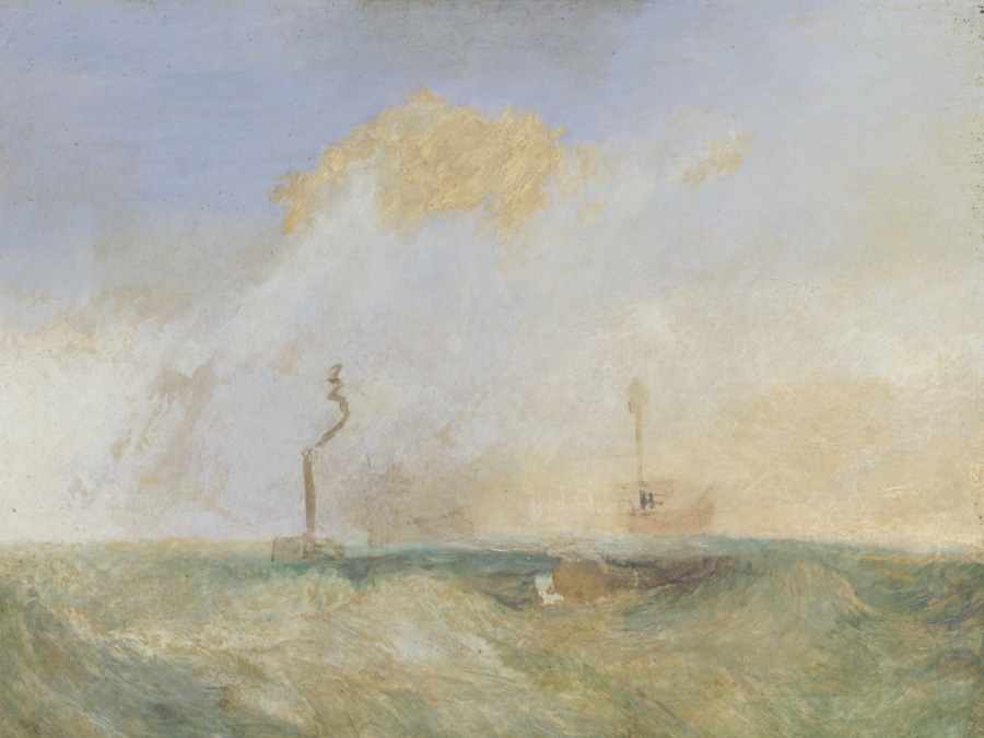 JMW Turner, Steamer and Lightship a study for The Fighting Temeraire, c. 1838-9
