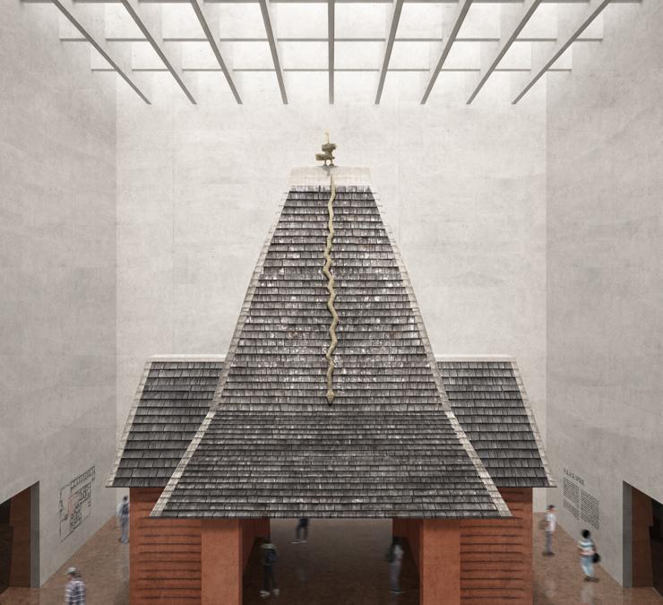 Reconstructed Royal Spire Pavilion © Adjaye Associates