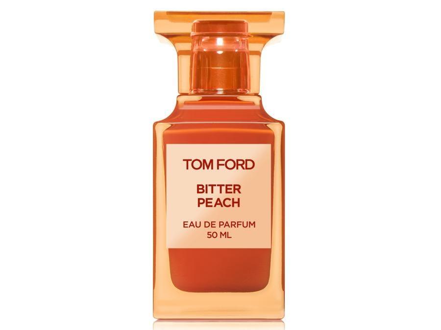 Tom Ford.Bitter Peach della collezione Private Blend con pesca, arancia rossa di Sicilia e olio di cardamomo
