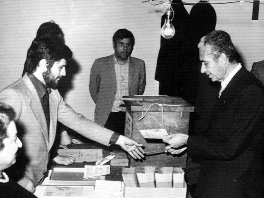Aldo Moro il 12 maggio 1974 . ARCHIVIO ANSA/DEF
