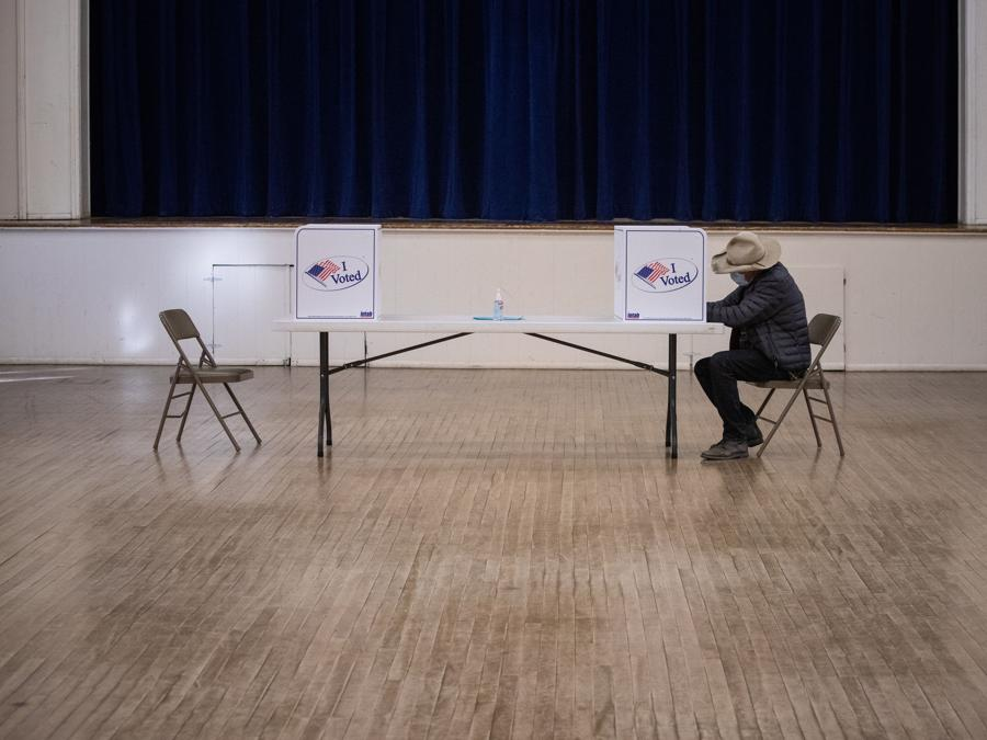 Un seggio di Marfa, Texas (REUTERS/Adrees Latif)