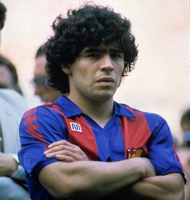 Italy Photo Press. Bbarcellona campionato calcio liga 1983-1984 nella foto Diego armando Maradona maglia barcellona