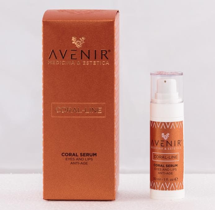 Coral Serum Eyes And Lips by Avenir, un siero antiage specifico per le zone occhi&labbra , appena lanciato, a base di estratto di Alga Corallina, ricco di oligoelementi e mix di peptidi. (in vendita su avenirgroup.it )