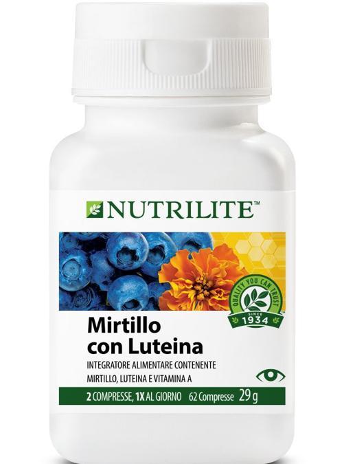 Mirtillo con luteina di Nutrilite con pigmenti antociani ed estratti del mirtillo favoriscono il corretto microcircolo