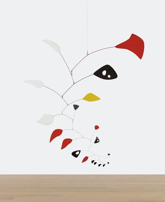 $18,188,400 (£13,595,754/HK$140,984,420), $6/8 Million. Alexander Calder, Mariposa, 1951, sheet metal, rod and paint, 125 by 122 in. Courtesy Sotheby's