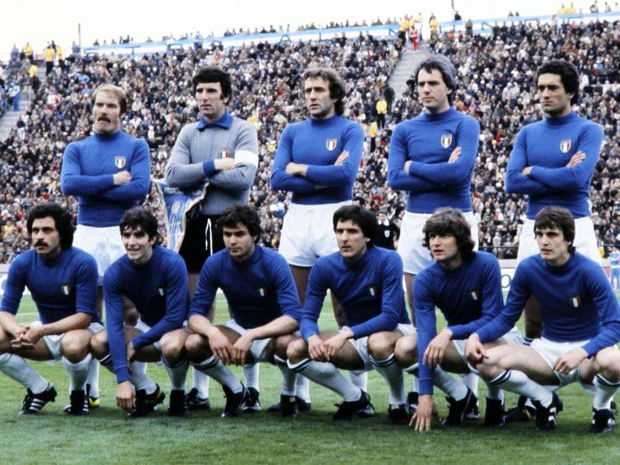 Con la nazionale italiana nel 1978 (Photo by STAFF / AFP)
