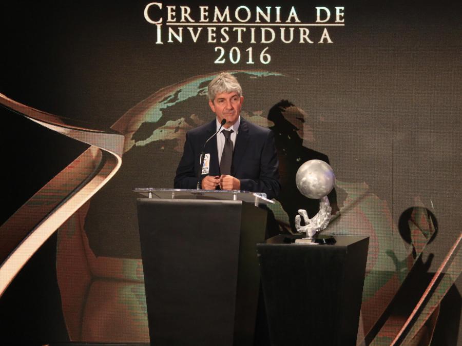 Durante una conferenza Fifa, nel 2016 ( EPA/DAVID MARTINEZ PELCASTRE)