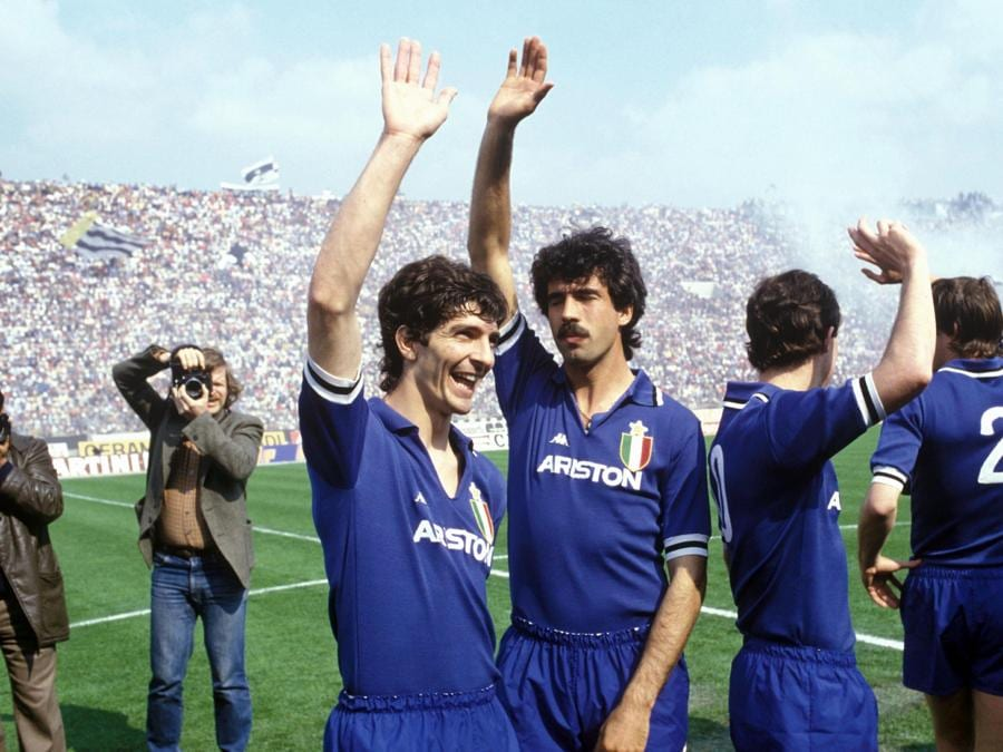 Nel 1982, Jjuventus-Udinese con  Pietro Paolo Virdis (Foto IPP/pressesports)