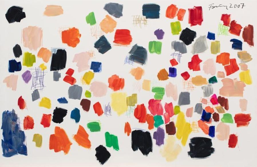 Questo dipinto dell'artista astratto tedesco Günther Forg (1952-2013) è stato venduto per 520.000 euro il 2 dicembre dalla casa d'aste Millon di Parigi. Datato 2007, è stato esposto nella galleria Lelong a Parigi