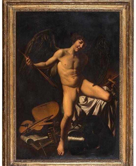 Pittore romano, Amor vincitore, copia da Caravaggio, XVII secolo, stima 20-30.000 €, venduto a 83.000 €, courtesy Babuino