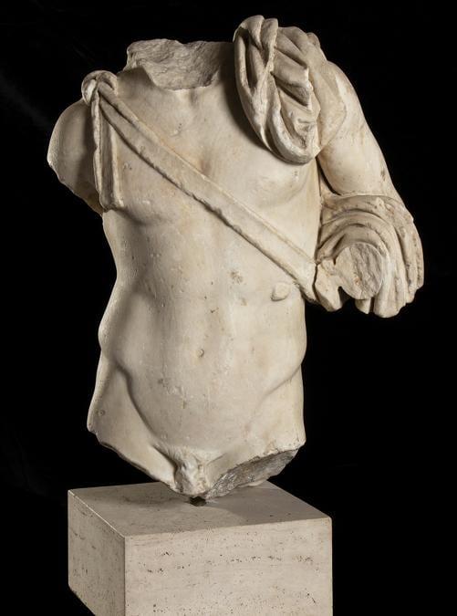 Torso di Diomede del tipo di Cuma-Monaco, fine I-inizio II sec. D.C., stima 90-140.000 €, Venduto a 115.000 €, Courtesy Bertolami