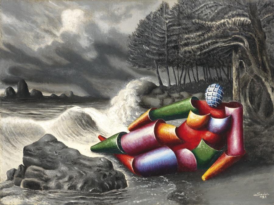 Alberto Savinio, Ulysse, 1928, stima 180-280.000 €, venduto a 272.700 €, Courtesy Farsettiarte
