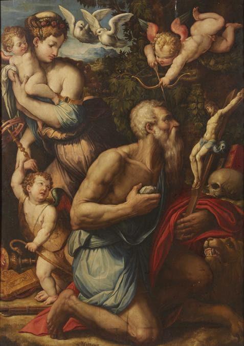 Giorgio Vasari, Le tentazioni di San Girolamo, stima 300-500.000 €, venduto a 800.000 €, Courtesy Pandolfini