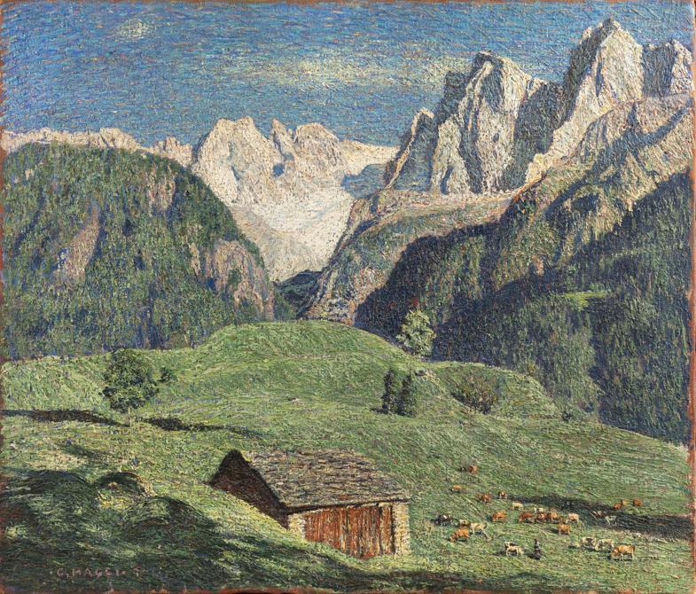 Cesare Maggi, Val Bregaglia, 1907, stima 45-60.000 €, venduto a 56.000 €, Courtesy Sant'Agostino Casa d'Aste