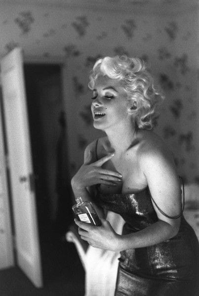 La pubblicità di Chanel N°5 con Marilyn Monroe