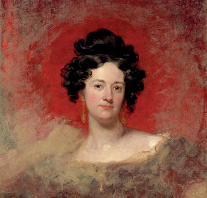 Portrait of Williamina Bowlby by Thomas Lawrence. Photo: Courtesy of Sotheby's