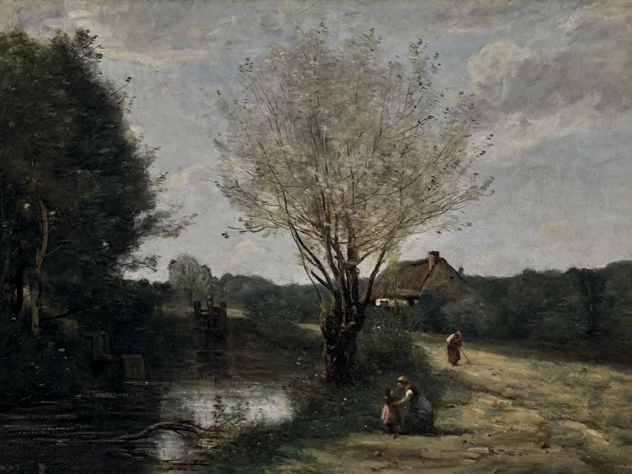 La Petite Vanne by Jean-Baptiste-Camille Corot. Photo: Courtesy of Sotheby's