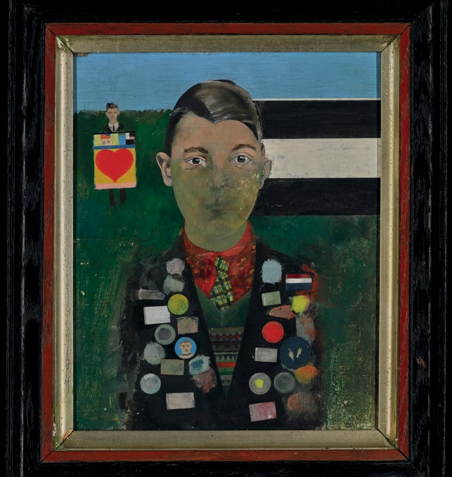 Boy with Paintings by Sir Peter Blake. Photo: Courtesy of Pallant House Gallery