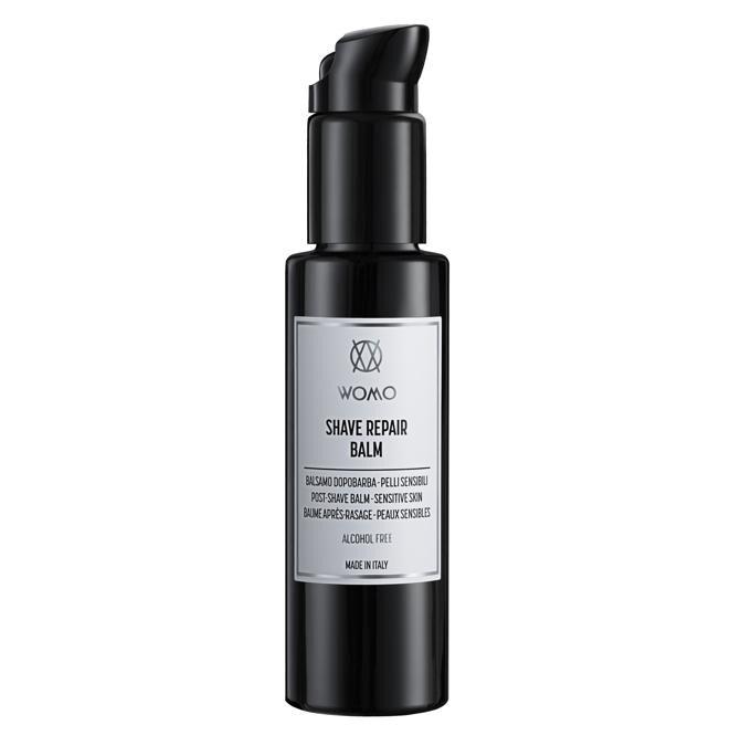 Womo Shave Repair Balm, perfetto dopo la rasatura, un balsamo per pelli sensibili, che allevia eventuali arrossamenti e irritazioni, grazie all'estratto di salvia e bisabololo.