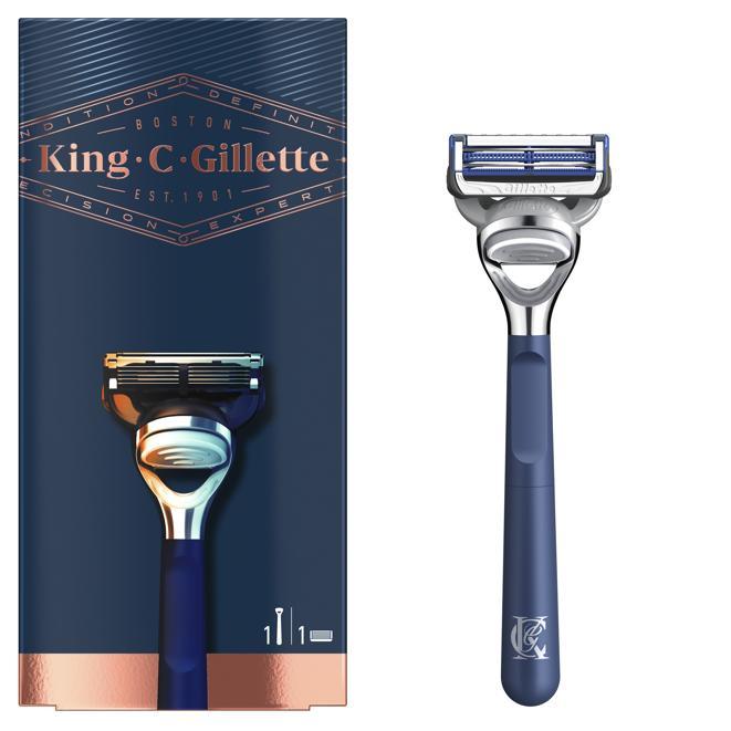 King C. Gillette Rasoio per il collo, progettato per la pelle sensibile di collo e guance
