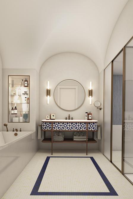 Hotel La Palma- Stanza da bagno