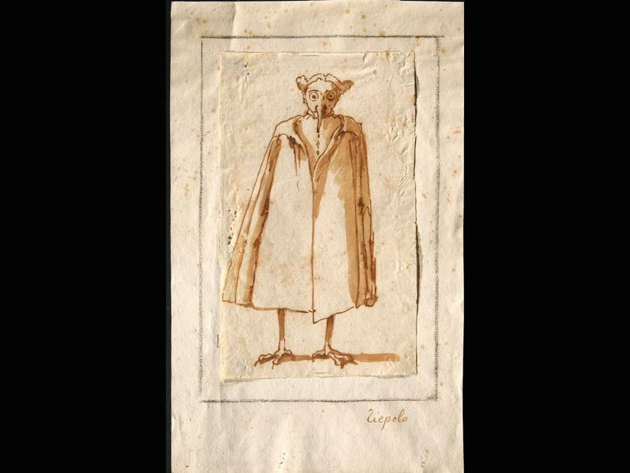 Giambattista Tiepolo «Caricatura di un medico della peste» 1696-1770