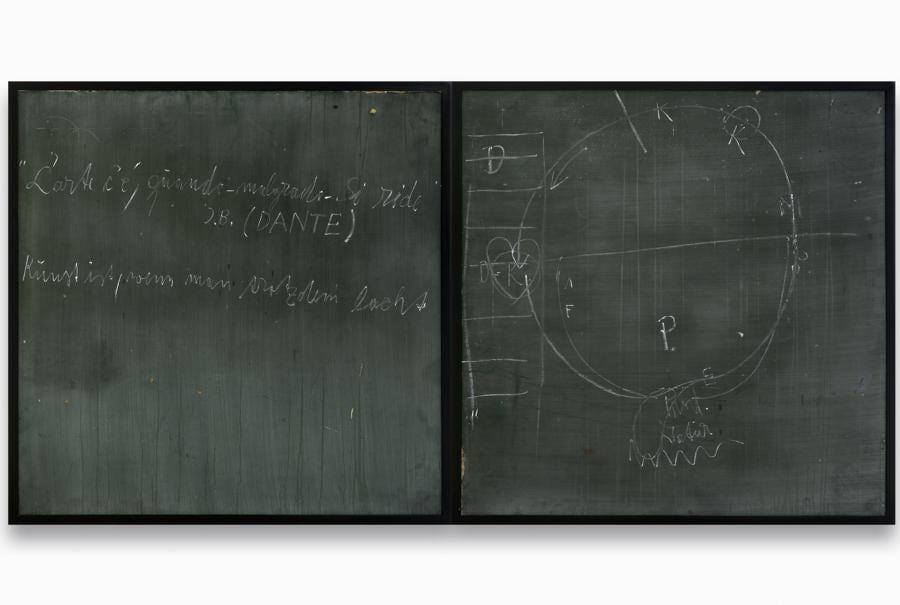 Joseph Beuys «Kunst ist wenn man trotzdem lacht »(Art iswhen you laugh despite everything), 1979. Per gentile concessione della Galerie Thaddaeus Ropac, Londra, Parigi, Salisburgo (Joseph Beuys Estate / VG-Bildkunst, Bonn, 2020)
