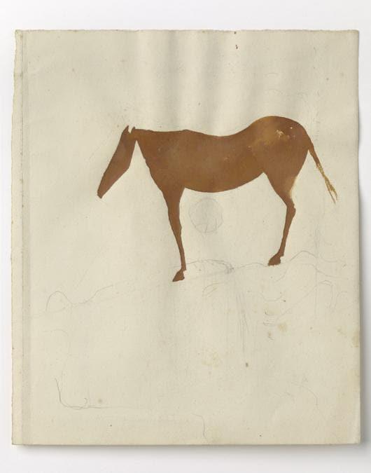 Joseph Beuys. Foto: Ulrich Ghezzi «Ohne Titel» (Untitled),  1960 circa. Per gentile concessione della Galerie Thaddaeus Ropac, Londra, Parigi, Salisburgo (Joseph Beuys Estate / VG-Bildkunst, Bonn, 2020)
