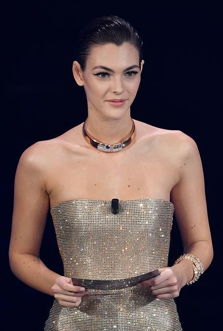 Vittoria Ceretti con gioielli Bulgari (Photo by Jacopo Raule / Daniele Venturelli/Getty Images)