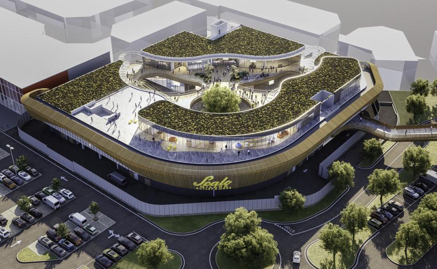 Sarà così la nuova parte di Scalo Milano che verrà inaugurata nel 2023. Ci saranno due piani dedicati a nuovi punti vendita, l'area di coworking e, sul tetto, la food court