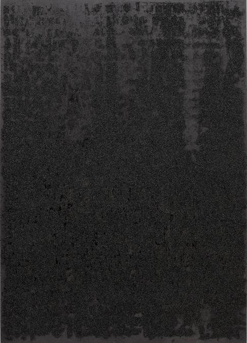 Glenn Ligon, Mirror #2, 2006, silkscreen, coal dust and oil stick on canvas, 213.4 x 152.4 cm (84 x 60 in.), Estimate: £600,000 - 800,000