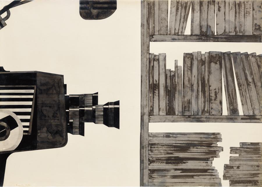 Alighiero Boetti, Senza Titolo, 1965, China on cardboard, 70 x 100 cm , Estimate: £80,000 - 120,000