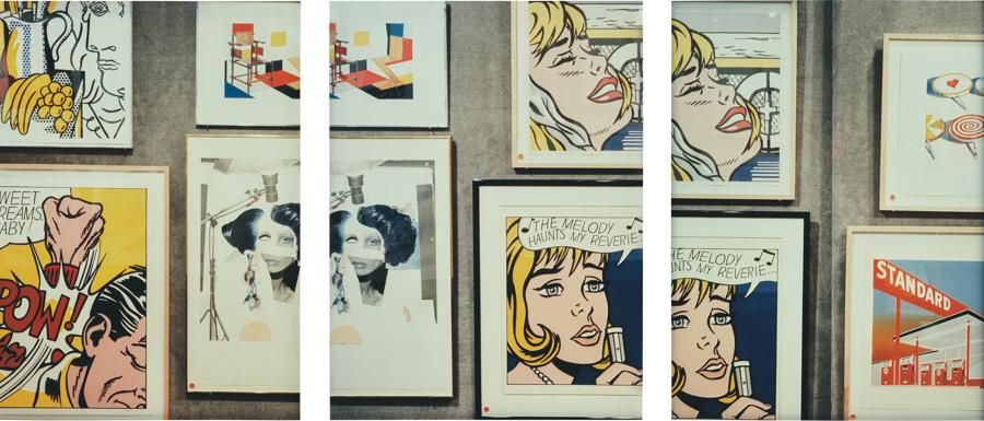 Louise Lawler, Collage/Cartoon, 1990, set of 3 Cibachrome prints, each 60 x 40 cm (153⁄4 x 235⁄8 in.) overall 180 x 120 cm (71 x 47 in.), Estimate: £60,000-80,000