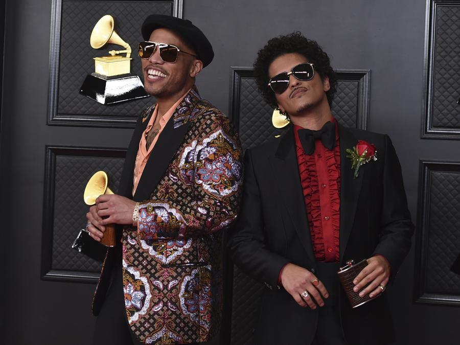 Anderson Paak e Bruno Mars  (Photo by Jordan Strauss/Invision/AP)