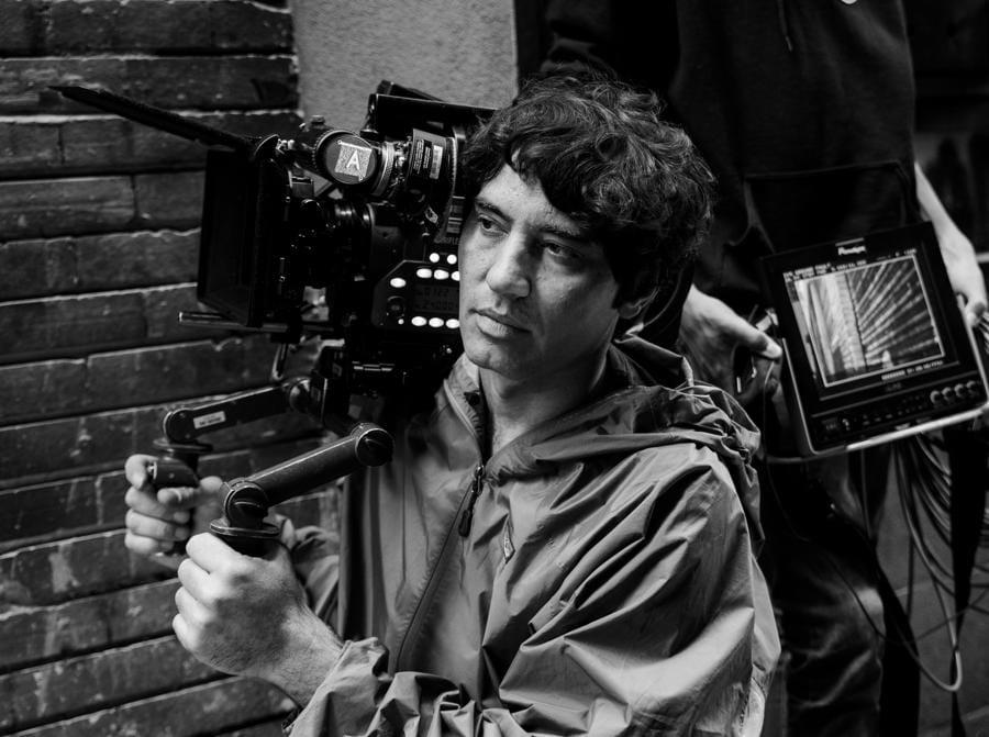 Pietro Marcello sul set del documentario