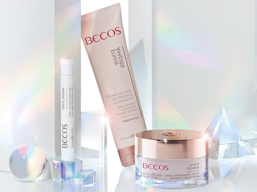 White Prisma di Becos, i prodotti per mantenere i benefici del trattamento fatto in Istituto a casa (info centro www.bocos.it )