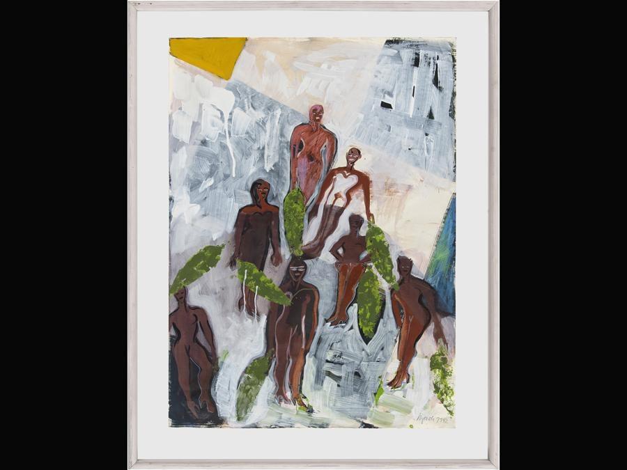 Elvira Bach «Drei Schwestern» 1984, per gentile concessione della Galerie Kornfeld e dell'artista