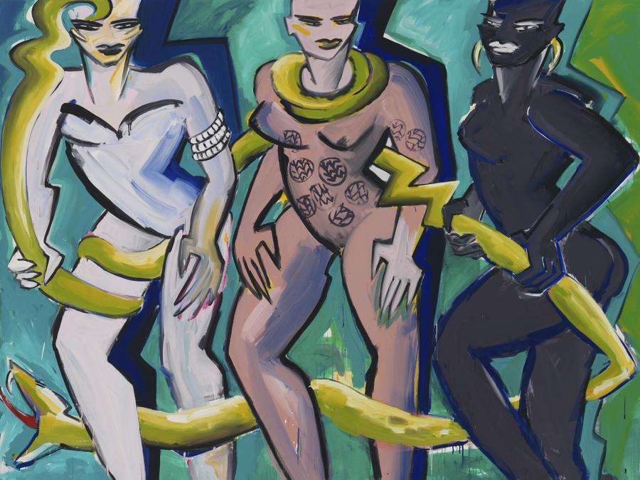 Elvira Bach «Afrika Blues» 1992, per gentile concessione della Galerie Kornfeld e dell'artista