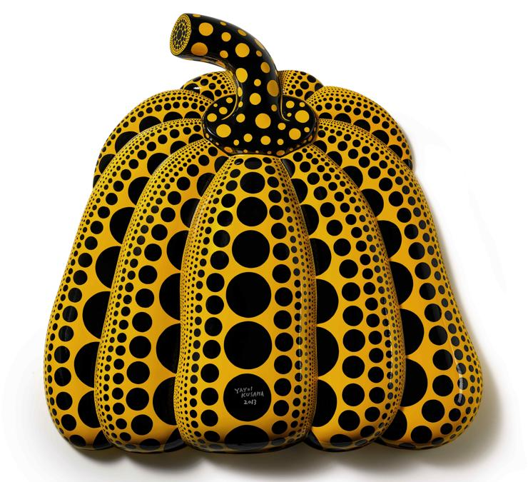 Yayoi Kusama - I CARRY ON LIVING WITH THE PUMPKINS.jpg Yayoi Kusama  Carry on Living with the Pumpkins. 2013 Estimate: (5.500.000 - 7.500.000 HKD) Lot sold: 15.905.000 HKD