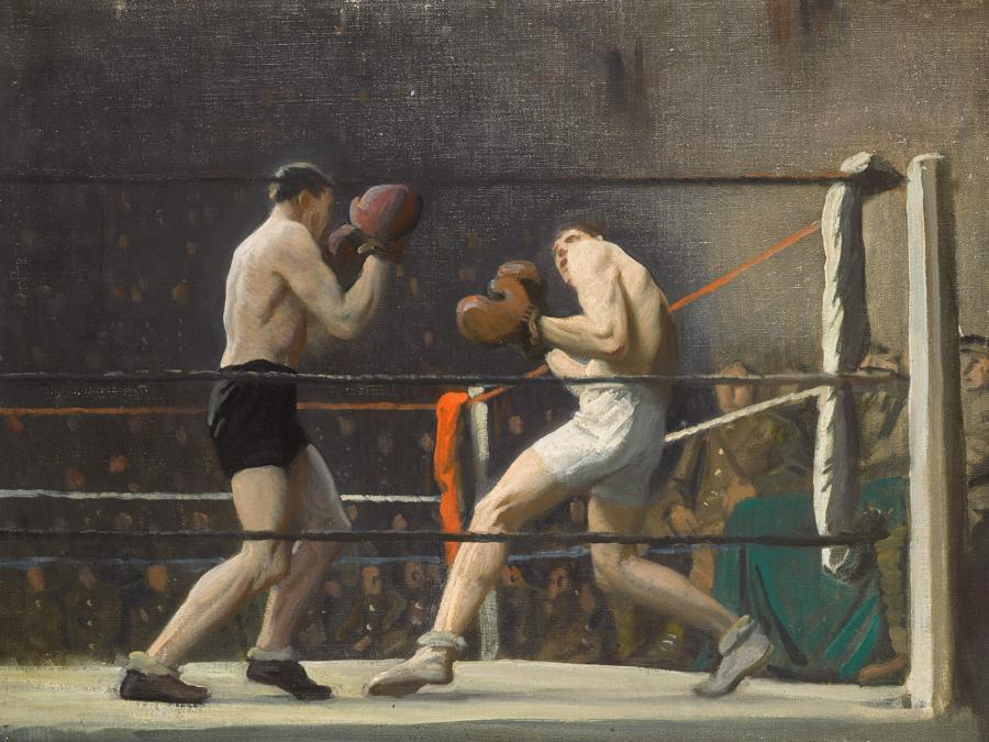 Dame Laura Knight, Boxing in Camp (The Light Heavy-Weights), est. £70,000-100,000