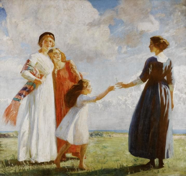 Dame Laura Knight, The Flower (The Gift), est. £150,000-200,000