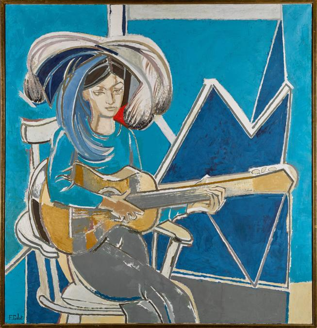 Françoise Gilot,Paloma à la Guitare,1965, est. £120,000-180,000