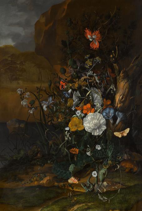 Rachel Ruysch, Florest floor still life with a pool, 1687, est. £150,000-200,000