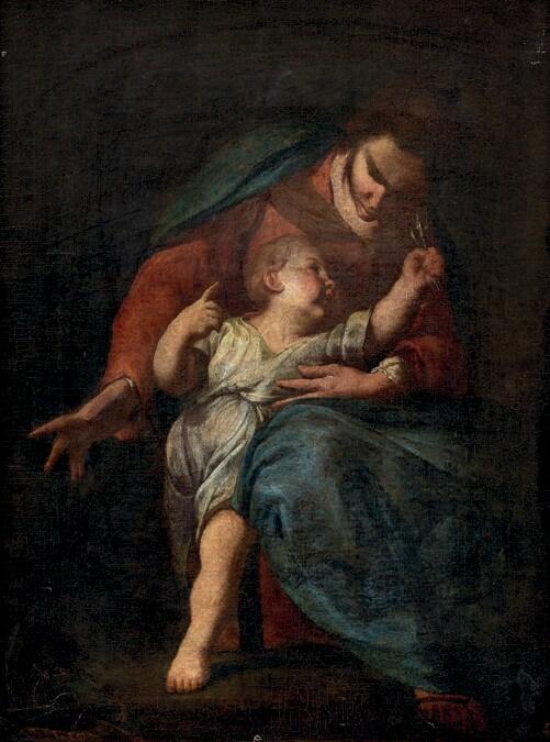 Lotto 38 Scuola Italiana Del Xvii Secolo Madonna con Bambino Olio su tela. 49 x 36 cm Stima € 4.000 Courtesy Aste Bolaffi