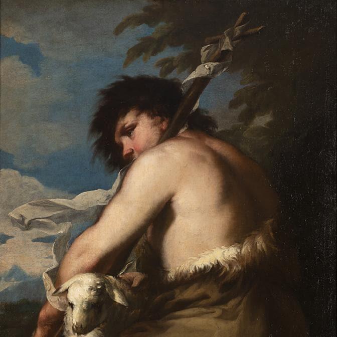 """Lotto 145: Maestro veneto del secolo XVII """"San Giovanni Battista"""", olio su tela, cm 86,5x69,5.Venduto € 106.250 Courtesy Il Ponte Casa d'aste"""