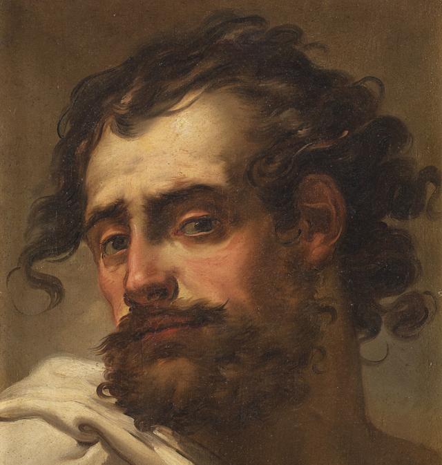 """Lotto 146: GAETANO GANDOLFI """"Busto d'uomo barbuto"""", olio su tela, cm 47,5x34,5.Venduto € 100.000 Courtesy Il Ponte Casa d'aste"""